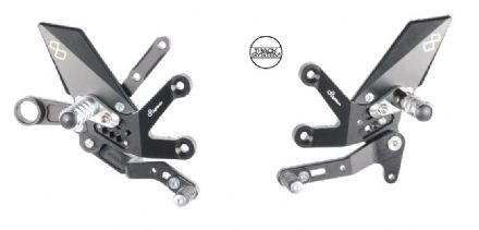 LighTech Suzuki GSX-S 1000 2015> Adjustable Rearsets